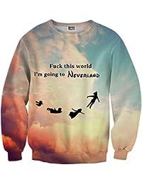 Mr. Gugu & Miss Go ® ⋅ Neverland Suéter ⋅ 3D ⋅ Unisex ⋅ Fullprint ⋅ Impreso ⋅ Multicolor ⋅ Primavera ⋅ Verano ⋅ 2017 ⋅