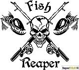 fish Reaper Angel Aufkleber Hobby ca 15 cm Tuning Racing Rennsport Motorsport Deko Rennen aus...
