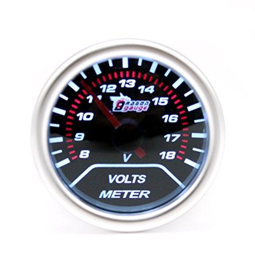 4-40V Ronde LED Panneau Daffichage Num/érique Voltm/ètre Tension /Électrique M/ètre Testeur De Volt pour Auto Voiture Moto Batterie Panier de Ballylelly