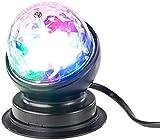 Lunartec Diskokugel: Rotierende 360°-Disco-Leuchte mit RGB-LED-Farbeffekten, 3 Watt (Partylampe)