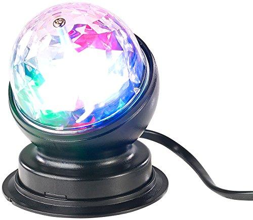 Lunartec Partyleuchten: Rotierende 360°-Disco-Leuchte mit RGB-LED-Farbeffekten, 3 Watt (Partylampe)
