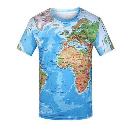 822f2660 White Unisex 3D Druck Sommer Lustige Beiläufige Grafik Kurzen Ärmeln  T-Shirts Crew