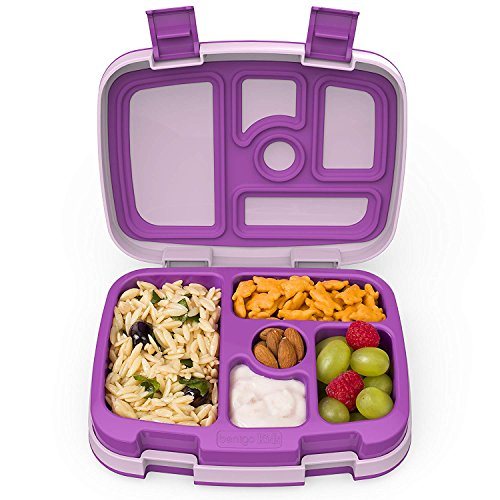 Bentgo Kids – Kinder Lunchbox / Bento Box / Brotdose mit 5 Unterteilungen, auslaufsicher (Lila)
