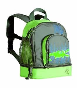 Lässig Mini sac à dos Croco vert -Sac à dos enfants – pour la maternelle ou en excursion