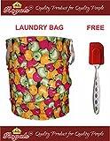 ROYALS Foldable Collapsible Pop-Up Clothes Laundry Hamper Bag Storage + 1 Pc Spatula