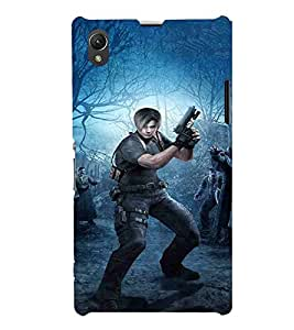 Cartoon, Black, Cartoon and Animation, Printed Designer Back Case Cover for Sony Xperia Z1 :: Sony Xperia Z1 L39h :: Sony Xperia Z1 C6902/L39h :: Sony Xperia Z1 C6903 :: Sony Xperia Z1 C6906 :: Sony Xperia Z1 C6943