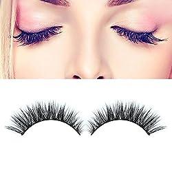 Majik 3D False Eyelashes, Reusable Eyelashes, Beauty Parlour Accessories, Eyelashes For Women And Girls, Black, Pack Of 1
