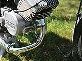K-Racing Tuningauspuff Resonanzauspuff 60-85ccm mit Kalotte - für Simson S50, S51, S70