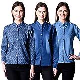 NumBrave Cotton Denim Shirt Combo of 3