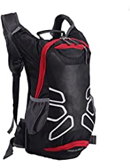 ANGELBUBBLES 12L Ultraligero impermeable bolsillo Mochila hidratación con agua 2 L Senderismo / Ejecutar / Ciclismo / Ciclismo / Correr / Viajes / Montañismo hombre mujer nylon