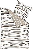 Kaeppel Mako Satin Bettwäsche Essential Motion Größe 155x220+80x80 cm Farbe Natur