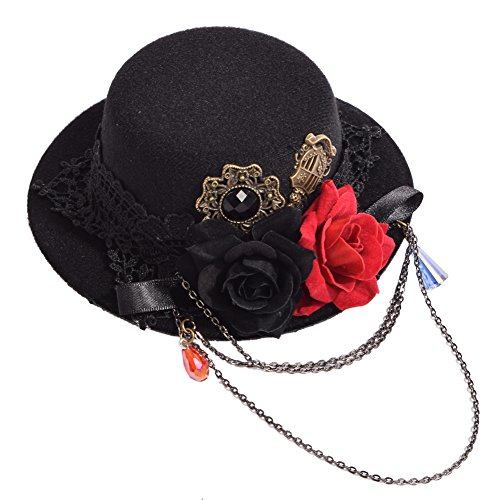 GRACEART Gótico Mini Parte Superior Sombrero Cabello Acortar