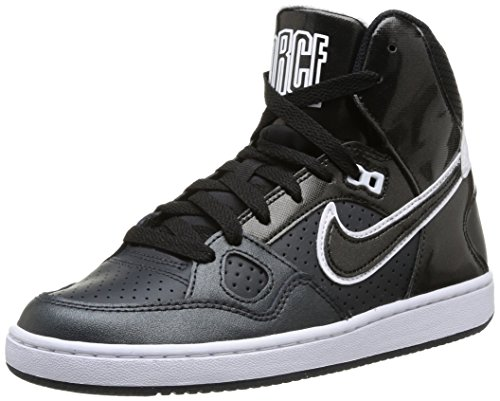 Nike 616303 009 Wmns Son Of Force Mid Damen Sportschuhe - Basketball Mehrfarbig (Anthracite/Black-White) 38.5