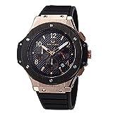 MEGIR da uomo militari 24 ore con indicatore Sports Watches 3ATM impermeabile in acciaio INOX, colore: oro, 1N0 MN3002GREBK Orologio da uomo