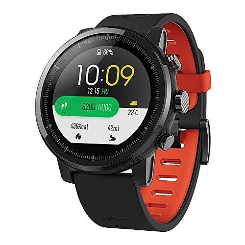 Cyond für Xiaomi Huami AMAZFIT 2 2S Smartwatch-Ersatzarmband, Zwei Farben/Silikonmaterial [wasserdicht] [hohe Textur] [atmungsaktiv] [Anti-Kollision] [Kratzfest] Armband (Schwarz+Rot)