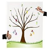 Herzl-Manufaktur Leinwand Zuckertütenbaum (30x40cm) Fingerabdruck baum Gästebuch zur Schuleinführung Geschenk Schulanfang