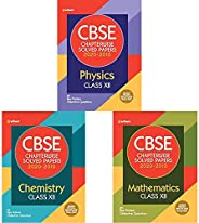 CBSE Chapterwise Solved Paper Class 12 of Physics,Chemistry & Mathematics for 2021 Exam (Set of 3 bo