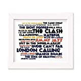 The Clash Poster Print - London Calling - Lyrik Geschenk Signiert Kunst