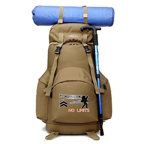 Camping E Outdoor Zaini E Borse Da Campeggio Traspirante Trekking Spalla Zaino , khaki khaki