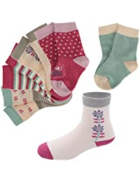 MagiDeal 5 Pairs Newborn Baby Girl's Toddler Socks Cotton Ankle Socks Anti Slip Socks - 7, 14-16cm