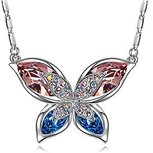 """J.RENEÉ """"Mariposa Bicolor Colgante Mujer"""