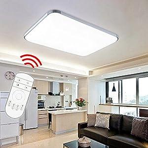 VINGO® 48w Deckenbeleucht LED Panel Lampe Dimmbar Energiespar Lichtfarbe und Helligkeit einstellbar