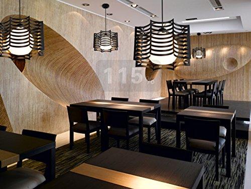 Helen Beleuchtung Gastronomie Licht Einfache moderne Persönlichkeit Kreative Mahlzeit Kronleuchter LLED Deckenleuchte Kristalllampe Esszimmer Schlafzimmer-Stab-Beleuchtung ( farbe : Schwarz )
