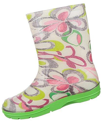 Kinderschuhe Stiefel Mädchen Gummi Regenstiefel Grün