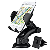 Car Phone Holder, Mpow 2 in 1 Adjustable Dashboard Car Cradle with Universal Air Vent Car Phone Mount,Strong Sticky Gel Pad Car Holder for iPhone 7 7 Plus 6 6s 5S, Samsung S8 S7 S6 Note 5/4, LG, Sony, HTC, Huawei and Other Mobile Phone