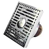 HJL Kupfer Bodenablauf Anti-Geruchs-Geruchs-Insekt-Edelstahl-Filter-große Verschiebung blockiert Nicht T-Art Fußboden-Abfluss passend für Badezimmer-Toiletten-Küche (Farbe : D) Test