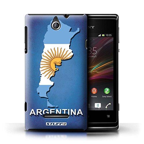 Kobalt® Imprimé Etui / Coque pour Sony Xperia E / Thaïlande/Thai conception / Série Drapeau Pays Argentine
