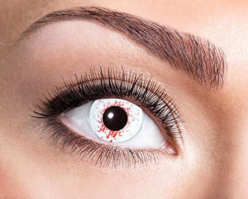 Goldschmidt Kontaktlinsen Jahreslinsen mit Sehstärke Dioptrien Halloween Qualitätsprodukt (Bloodshot 3, -1,00)