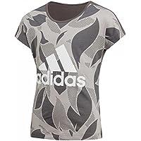 Adidas YG Linear P tee Camiseta, Niñas, Gris (Mgh Solid Grey/Grey Five f17) / Blanco, 170 (14/15 Años) - Cosmética y perfumes - Comparador de precios