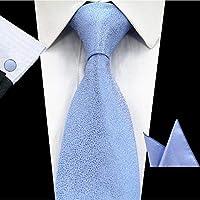 FDHFC Color Sólido Conjunto De Corbatas 8 Cm Negro Verde Corbata Gravata Pocket Square Pañuelo De