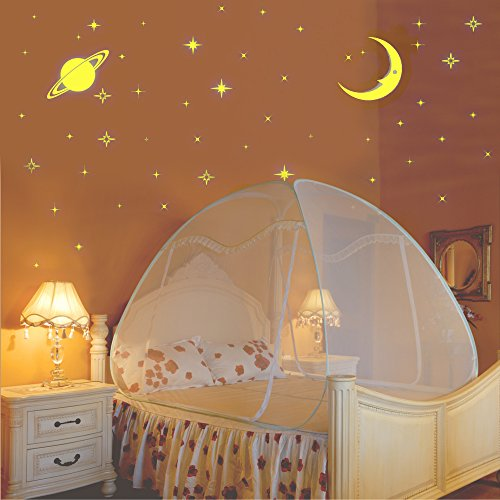 Kawachi Double Bed Size Folding Mosquito Net-With Glow In The Dark Stars...
