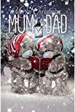 Me To You Tatty Teddy 3D Holographic Card - Mum and Dad Christmas Card