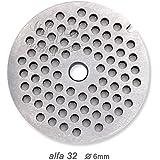 ALFA 32–Disco perforado (accesorio para picar carne) 6mm