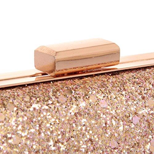 quadratischen Meine Damen Hartbox silvery Handtasche mit gold Schleifen Tasche einfachen Abendessen Zwiebel gzgrSw