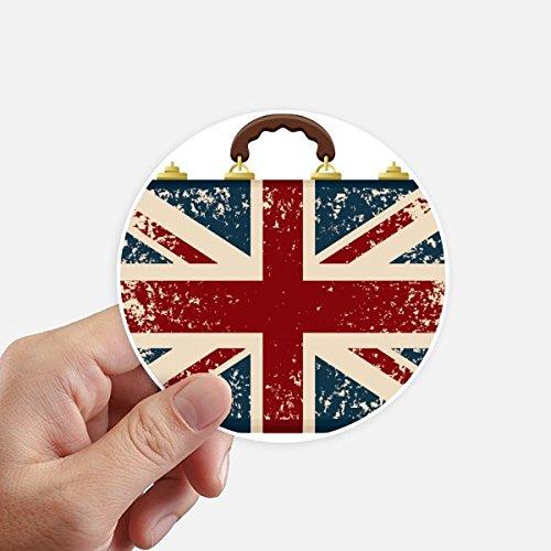 DIYthinker Union Jack Retro Koffer Großbritannien Britische Flagge Kultur Runde Sticker 10Cm Wand Koffer Laptop Motobike Aufkleber 8Pcs Diameter 10cm Mehrfarbig