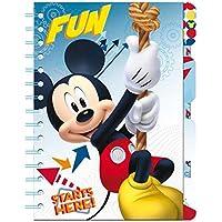 Libreta Mickey Disney marcadores
