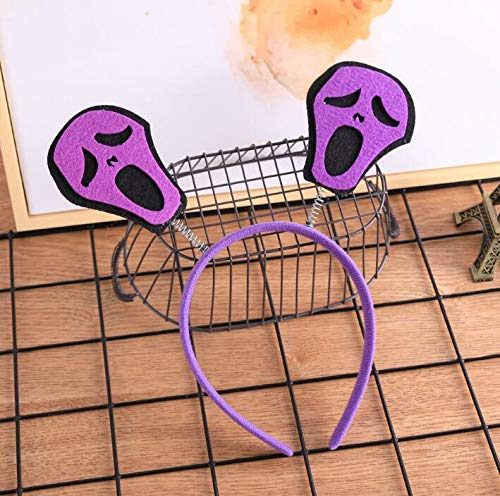 Payonr Kinder Spielzeug Lernspielzeug für Kleinkinder Halloween Stirnband Maskerade Party Supplies Cosplay Kopf Schnalle Kürbis Hexe Fledermaus Geist Haarspange Purple Screaming Devil