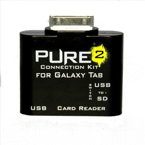 Pure² 5 in 1 OTG Multimedia Connection KIT Adapter für Samsung Galaxy Note 10.1 N8000 / N8100 / Tab / Tab 2 / 7.0 / 8.9 / 10.1 Unterstützt MS, SD, SDHC, MMC, MMC2, RS-MMC, SD UITRA2, EXTREME SD, Extreme 3 SD, TF (Micro-SD) mit USB Anschluss für Tastatur, Maus und Festplatten