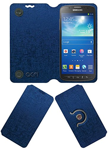 Acm Designer Rotating Flip Flap Case for Samsung Galaxy S4 Active I9295 Mobile Stand Cover Blue  available at amazon for Rs.399