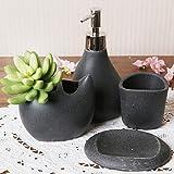 PLYY Keramik Badezimmer mit Vier Sets von europäischen Schwarzen