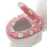 Wärmer WC-Sitzbezüge, OVERMAL Badezimmer Bad WC-Sitzbezüge Toiletten Sitzbezug Closestool Seat Pad Toilet Seat Cover WC-Sitz Kissen Toilette Sitz Abdeckung Kissen (Rosa)