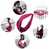 Kurtzy Baby Sling Carrier Bag Soft Cotton Material for Newborn (Rose)