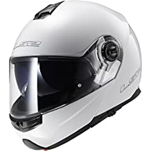FF325Casco de moto con luz estroboscópica, gloss white