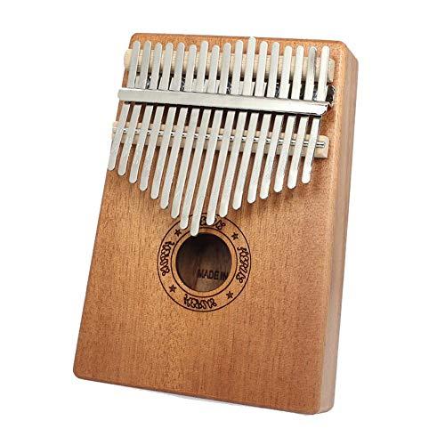 Blentude Kalimba 17 Keys Thumb Piano Anfänger -Finger Piano Mit Stimmhammer Für den Profi