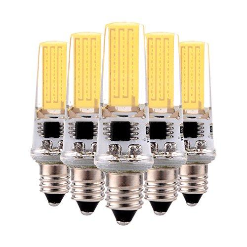 SDDMALL Regulable 3W E11 2508 COB 200-300 Lm AC 220-240 V / AC 110-130 V caliente blanco fresco decoración luz (5PCS) ( Color : Cool White , Size : 110-130V )