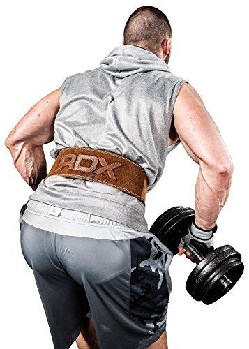 RDX Vacchetta Cuoio Sollevamento Pesi Cintura Pesistica...